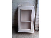 Matching shabby chic style bathroom cabinet & mirror