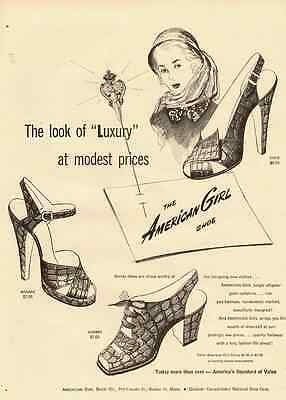 1950s vintage fashion ad, American Girl Women's Shoes-122212