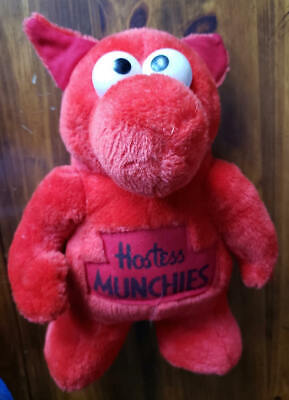 VINTAGE CANADIAN HOSTESS MUNCHIES RED MASCOT PROMOTIONAL PLUSH TOY 1980's