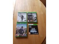 Xbox 1 Games including Watch Dogs 2, Rainbow 6, quantum break and Alan wake
