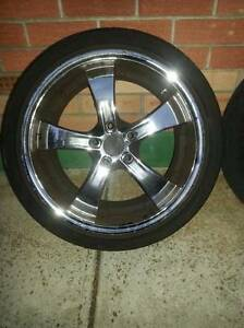 Starcorp Zenetti Kaotic 18*9.5 wheels and tyres - CHEAP!! Valley View Salisbury Area Preview