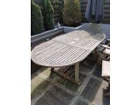 Extending Oval Teak Garden Table