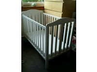 White Mothercare Wooden Cot