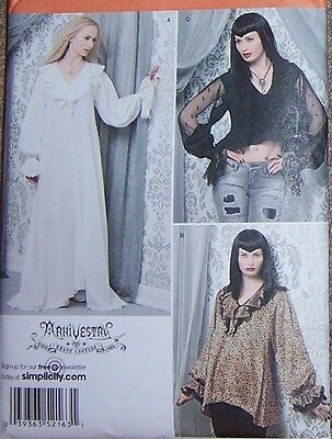 Medieval style sewing pattern GOWN top sexy feminine misses 6 8 10 12 night gown - Medieval Nightgown
