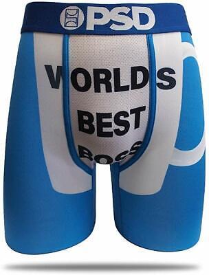 PSD Underwear The Office Athletic Boxer Briefs, World's Best Boss, Large Best Boxers Underwear