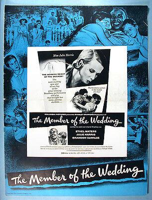 1953 Ethel Waters Member of the Wedding Original Movie Pressbook Julie Harris