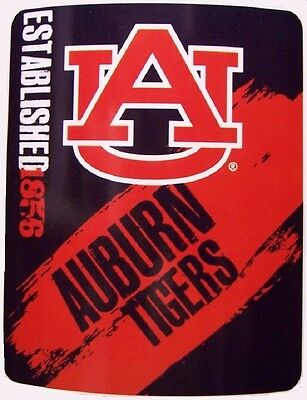 "(Blanket Fleece Throw NCAA Auburn Tigers NEW 50""x60"" with protective sleeve)"