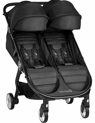 Baby Jogger Twin Stroller - Baby Jogger City Tour 2 Twin Double Lightweight Compact Fold Travel Stroller Jet