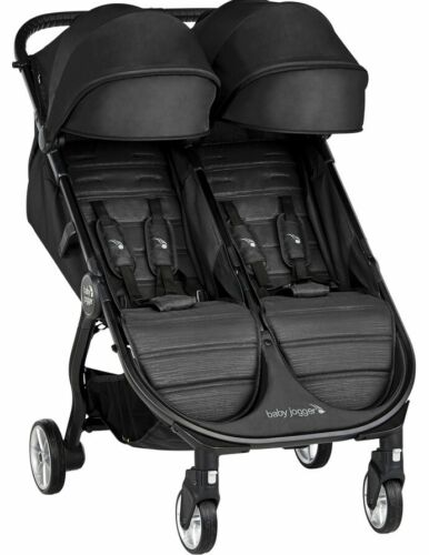 Baby Jogger City Tour 2 Twin Double Lightweight Compact Fold Travel Stroller Jet