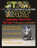 STAR WARS kid's PaRTy @ Boston Pizza Chatham