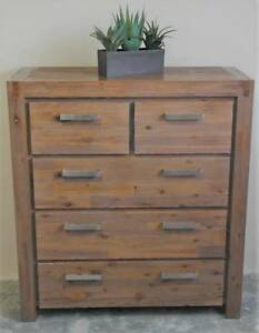 Modern Industrial Metal Rustic Tallboy Chest of Drawers Waratah Newcastle Area Preview