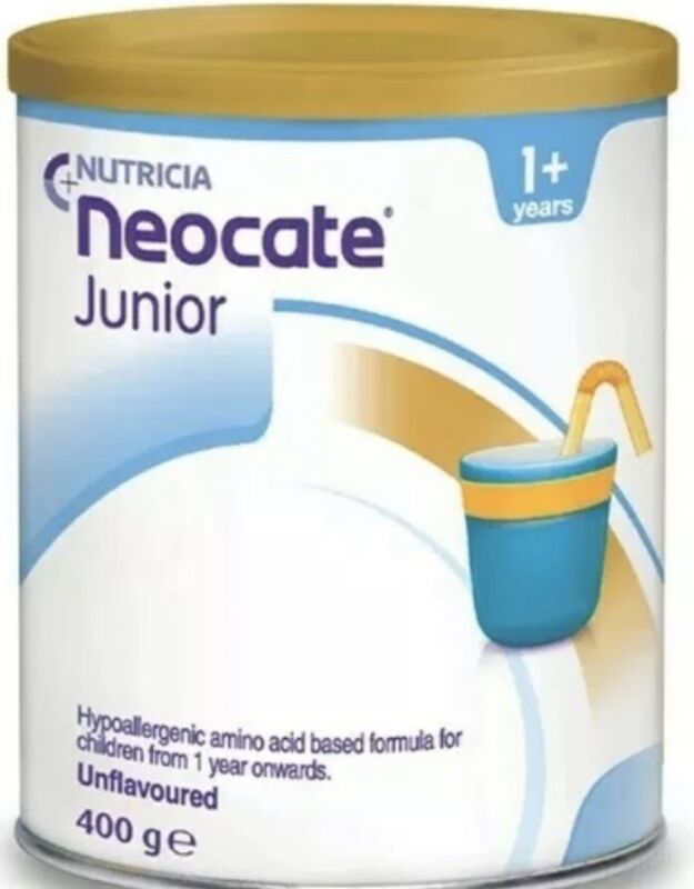 4 Can Neocate Junior Unflavoured , 14.1 oz / 400 g , August 2021 Fast Shipping