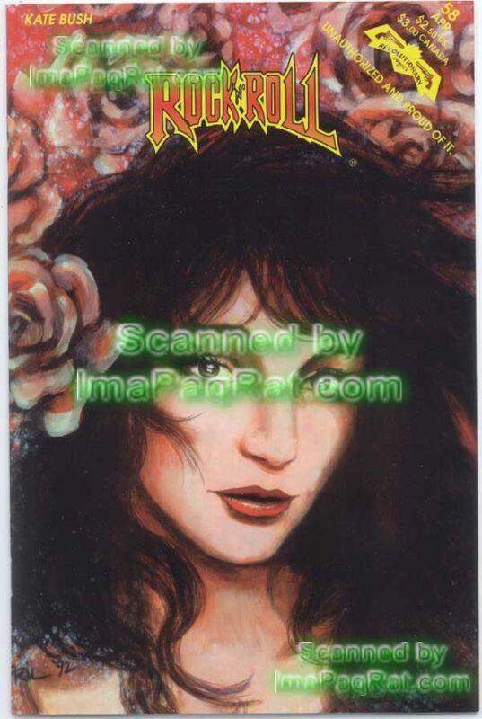 KATE BUSH ☆ Rock N Roll Comic ☆ 1st Print ☆ Revolutionary Comics Archive Copy