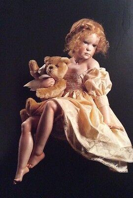 Hildegard Gunzel wax over porcelain Pauline Museum Quality Artist Doll Nrfb Rare
