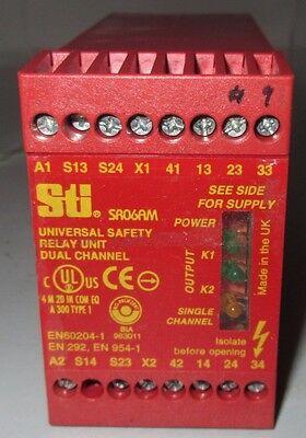Sti Safety Relay Sr06am 44510-0320 110v Ac Universal Unit Dual Channel Used