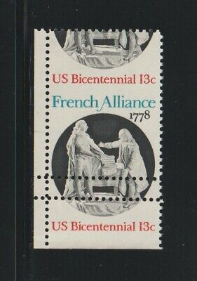 US EFO, ERROR Stamps: #1753 French Alliance. Perf shift w/ full gutter! MNH