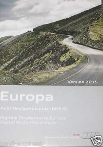 Audi Navigation Plus RNS-E  A3/A4/A6/TT   DVD 1   Deutschland WestEuropa   2015
