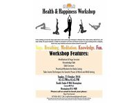 Health and Happiness Workshop - Learn about Reducing Stress and thus be happy :)