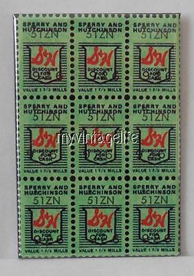Stamp Refrigerator Magnet - Vintage S&H GREEN STAMPS 2