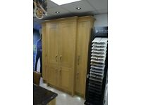 Ex-display Solid Wood In-frame Lisa Oak Dresser Unit / Larder Kitchen Unit