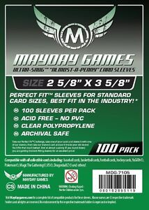 100 almost a penny card sleeves (Mayday Games)