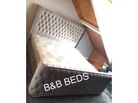 Double Modren Plush Grey Wing Bed*Free delivery