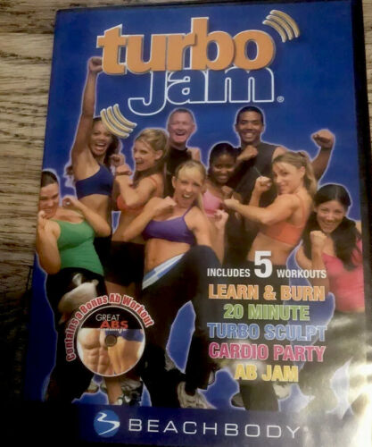 Turbo Jam-Includes 5 Workouts And Bonus AB Fitness Exercise DVD Sealed NEW - $14.99