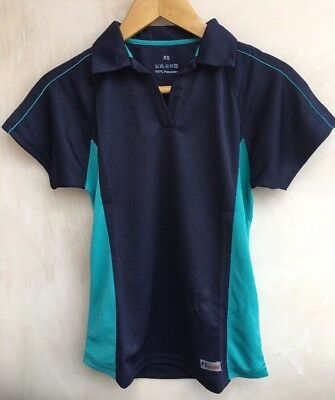 School Pe Tops Navy With Green Size XS Bundle<NH6301