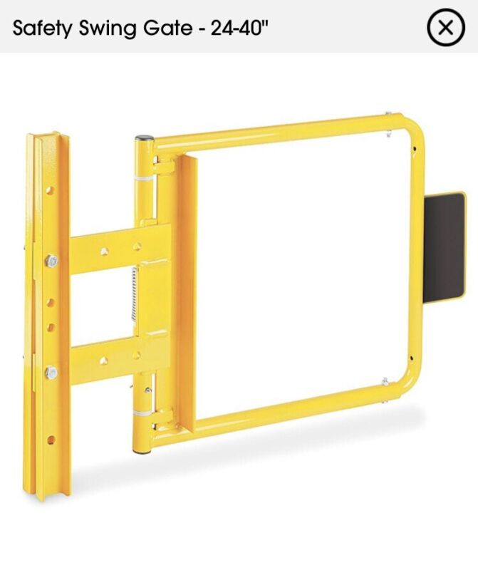 """ULine H-5616 24-40"""" Adjustable Safety Swing Gate Yellow"""