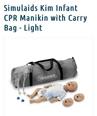 Simulaids Kim Infant Full Body Cpr Training Manikin With Training Bag -brand New