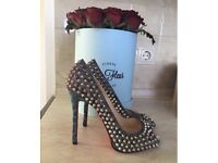 100% authentic Christian Louboutin spiked heels shoes LV MK CL YSL HERMES