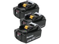 3X Brand new Genuine Makita batterys BL1850B