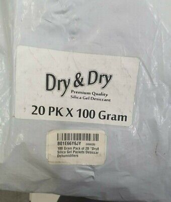 100 Gram Pack Of 20 Drydry Silica Gel Packets Desiccant Dehumidifiers