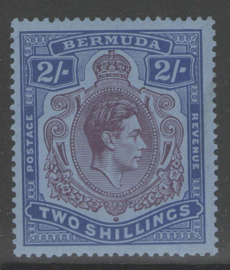 BERMUDA SG116a 1940 2/= DEEP REDDISH PURPLE & ULTRAMARINE/GREY-BLUE MTD MINT