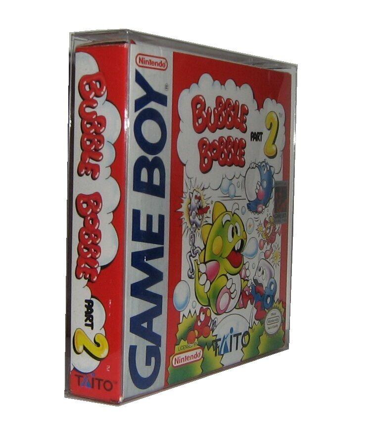 10 Gameboy Virtual Boy Box Protectors Clear Plastic Sleeve Cib Game