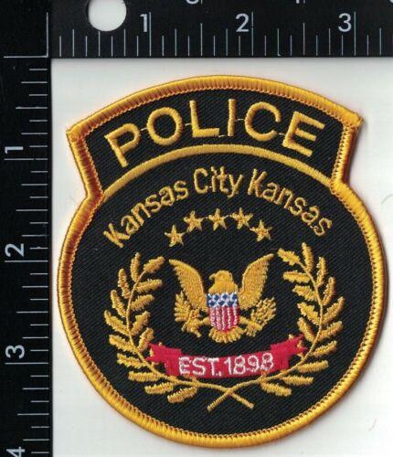 Kansas City Kansas Police gold KS Police Patch