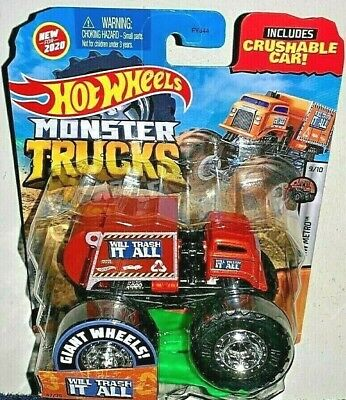 HOT WHEELS 2020 MONSTER TRUCKS ORANGE WILL TRASH IT ALL HW METRO #9/10 NEW! HTF!