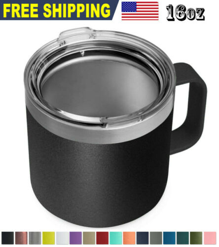16oz Stainless Steel Mug Sip Lid Vacuum Double Wall Insulated Coffee Tumbler
