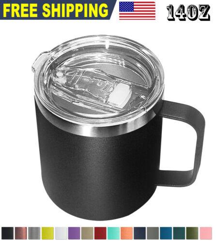 14oz Coffee Mug Slider Lid Stainless Steel Vacuum Double Wall Insulation Tumbler