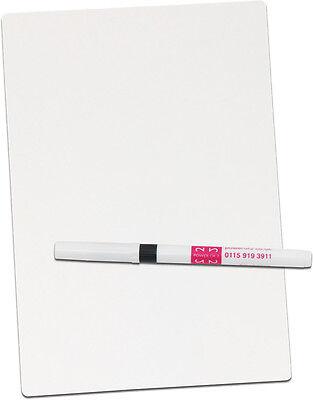 A5 blank whiteboard. School & Home - FREE dry-wipe pen