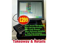 Epos System with Receipt Printer , Cash Drawer and Epos Software, Call 07722368470