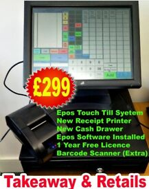 Epos System with Receipt Printer , Cash Drawer and Epos Software, call 07722398470