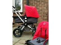 Bugaboo chameleon red and grey