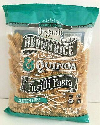 - 2 PACK Trader Joe's Organic Brown Rice & Quinoa Fusilli Pasta (Gluten Free)