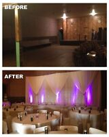 DECOR RENTALS: Backdrops, Centrepieces, Chair Covers: Camrose AB