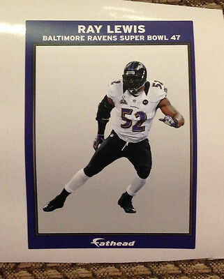 Ray Lewis Mini Ad Panal Murel 6  X 4  Ravens Super Bowl 47 Fathead Wall Graphics