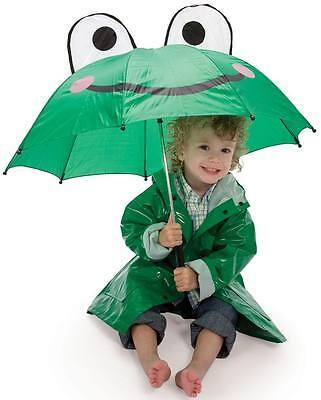 Children's Frog Umbrella For Boys & Girls Adorable