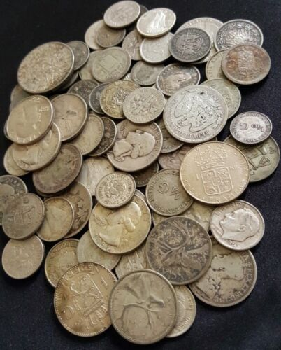 ✯ World Silver Coins from Huge Hoard ✯ Old Antique Coins Money ✯ 1 COIN