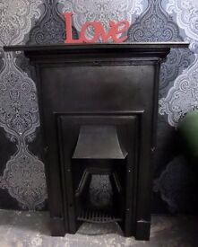 Stunning Reclaimed Cast Iron Small Fireplace Fire Surround Mantle Delivery Available