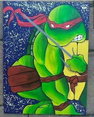 Rafael teenage mutant Ninja turtle Acryic Painting  - Ninja Turtle Painting